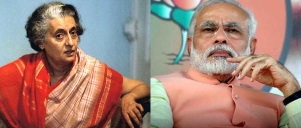 Indira Gandhi - Narendra Modi